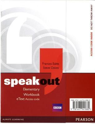 Speakout Elementary Workbook eText Access Card