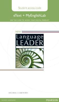 New Language Leader Pre-Intermediate eText Access Card with MyEnglishLab