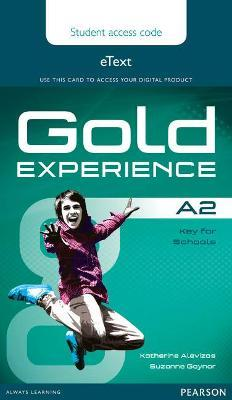 Gold Experience A2 eText Student Access Card