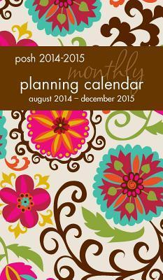 Posh Floral Whimsy 2014-2015 Monthly Pocket Planning Calendar