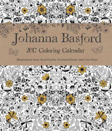 Johanna Basford 2016 2017 16 Month Coloring Weekly Planner