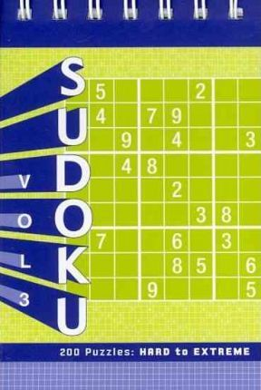 Sudoku Vol. 3 Puzzle Pad: Hard to Extreme