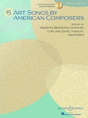 15 Art Songs by American Composers  High Voice, Book/CD