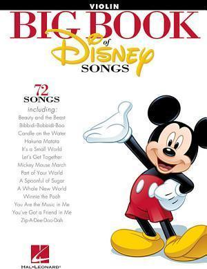 The Big Book Of Disney Songs - Violin : Hal Leonard