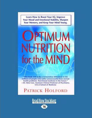 New Optimum Nutrition for the Mind (Volume 1 of 2)
