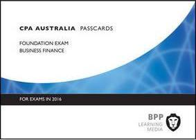 CPA Business Finance  Passcards