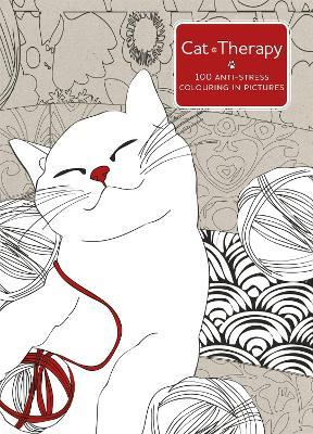 Cat Therapy : A mindful colouring book for adults