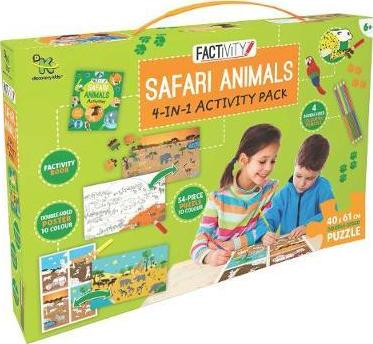 Discovery Kids Factivity Safari Animals 4-in-1 Activity Pack