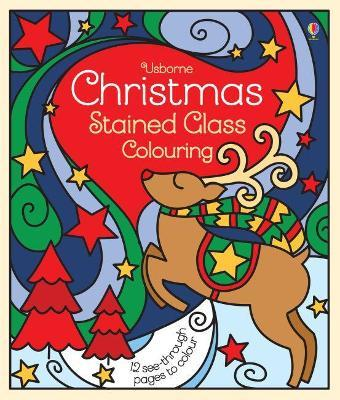 christmas stained glass colouring emma randall 9781474953009