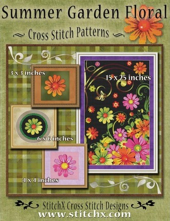 Summer Garden Floral Cross Stitch Patterns