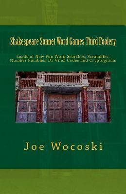 Shakespeare Sonnet Word Games Third Foolery