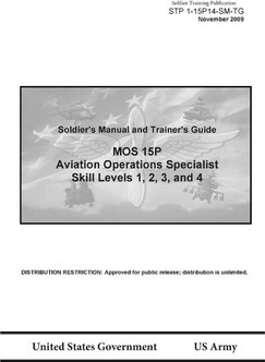 Soldier Training Publication Stp 1-15p14-SM-Tg Soldier's Manual and Trainer's Guide Mos 15p Aviation Operations Specialist Skill Levels 1, 2, 3, and 4 November 2009