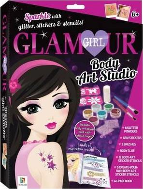 Glamour Girl Body Art Studio Kit Small Format Hinkler Books 9781488927232