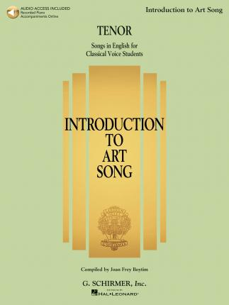 Introduction To Art Song For Tenor (Book/Online Audio)
