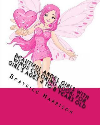 Beautiful Angel Girls with Wings Coloring Book