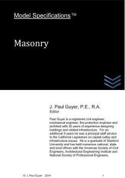 Model Specifications: Masonry