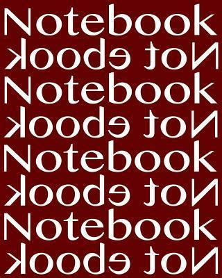 Notebook Not eBook Unruled Notebook with 120 Pages