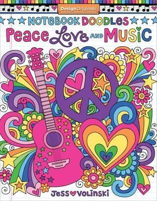Notebook Doodles Peace, Love, Music