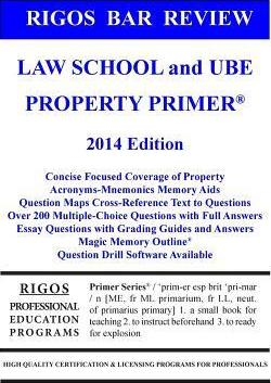 Rigos Bar Review Law School and Ube Property Primer : MR James J
