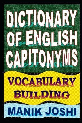 Dictionary of English Capitonyms