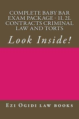 Complete Baby Bar Exam Package - 1l 2l Contracts Criminal