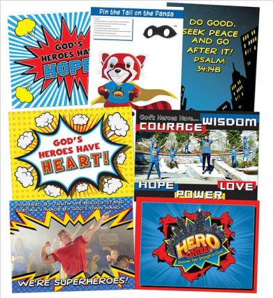 VBS Hero Central Decorating Poster Pack