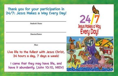 Vacation Bible School (Vbs) 2018 24/7 Student Certificates (Pkg of