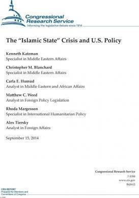 "The ""Islamic State"" Crisis and U.S. Policy"