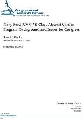 Navy Ford (Cvn-78) Class Aircraft Carrier Program