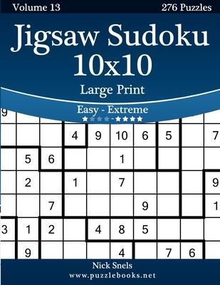 picture regarding Jigsaw Sudoku Printable referred to as Jigsaw Sudoku 10x10 Superior Print - Simple in the direction of Severe - Quantity