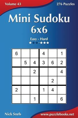 photograph relating to 6x6 Sudoku Printable referred to as Mini Sudoku 6x6 - Basic in direction of Difficult - Amount of money 43 - 276 Puzzles