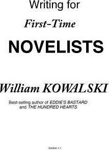 Writing for First-Time Novelists