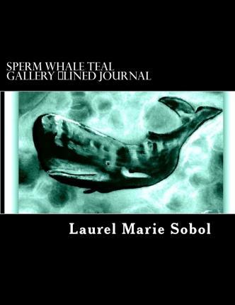 Sperm Whale Teal Gallery Lined Journal