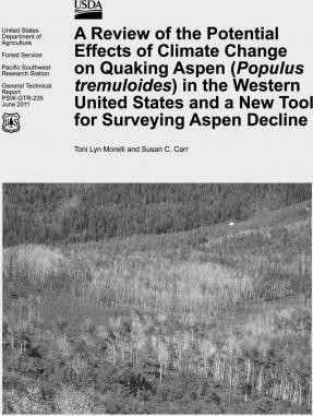 A Review of the Potential Effects of Climate Change on Quaking Aspen (Populus Tremuloides) in the Western United States and a New Tool for Surveying Aspen Decline