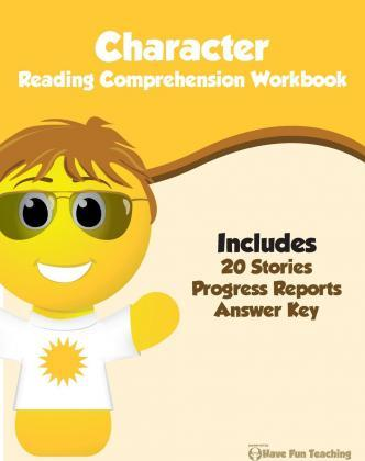 Character Reading Comprehension Workbook