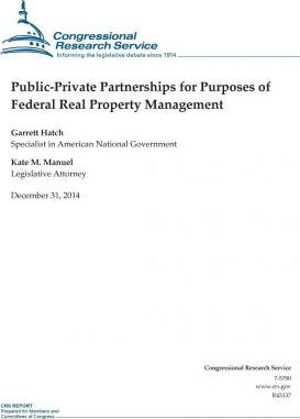 Public-Private Partnerships for Purposes of Federal Real Property Management