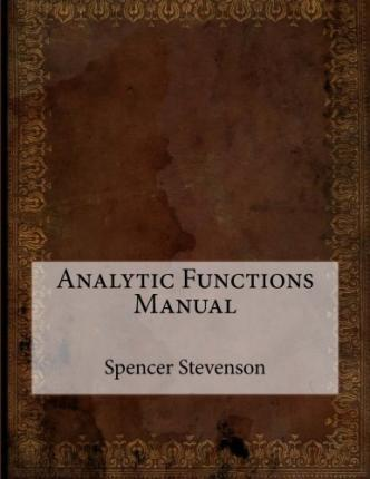 Analytic Functions Manual