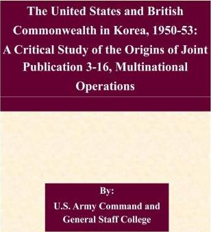 The United States and British Commonwealth in Korea, 1950-53