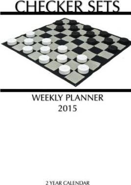 Checker Sets Weekly Planner 2015