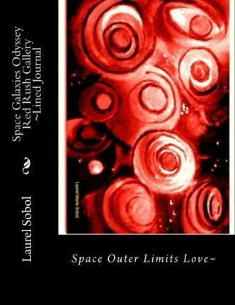 Space Galaxies Odyssey Red Rush Gallery Lined Journal