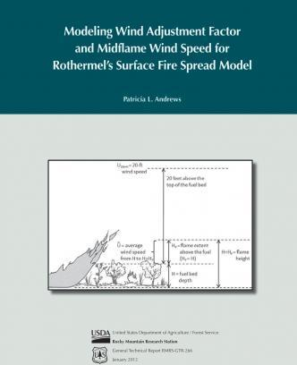 Modeling Wind Adjustment Factor and Midflame Wind Speed for Rothermel's Surface