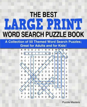 The Best Large Print Word Search Puzzle Book