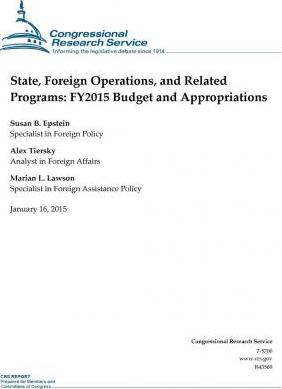 State, Foreign Operations, and Related Programs
