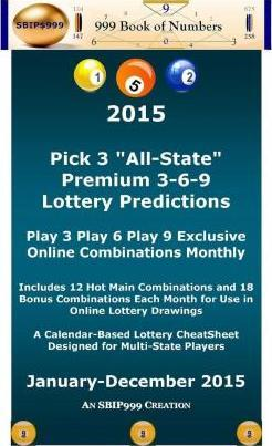 2015 Pick 3 All State Premium 3-6-9 Lottery Predictions