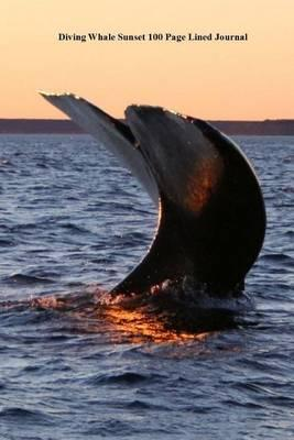 Diving Whale Sunset 100 Page Lined Journal