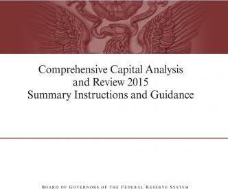 Comprehensive Capital Analysis and Review 2015 Summary Instruction and Guidance