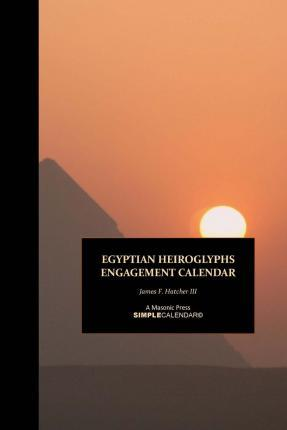 Egyptian Heiroglyphs Engagement Calendar