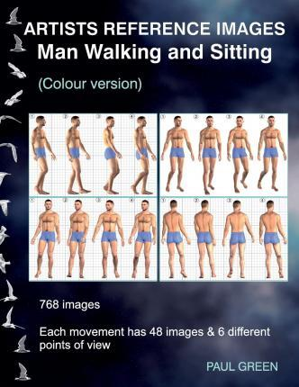 Artists Reference Images - Man Walking and Sitting