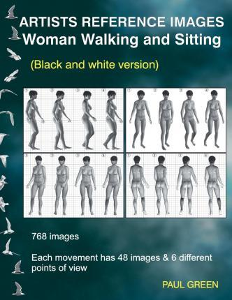 Artists Reference Images - Woman Walking and Sitting