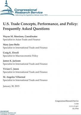 U.S. Trade Concepts, Performance, and Policy